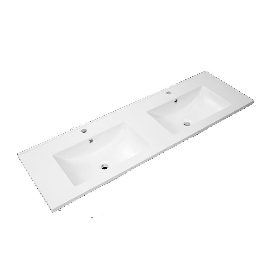 Quadro Polymarble Vanity Top ( Double Bowl / 1500mm)