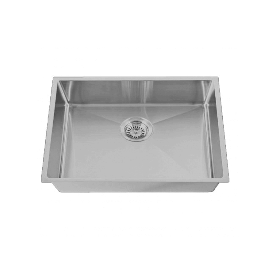 Brushed stainless steel large rectangular sink