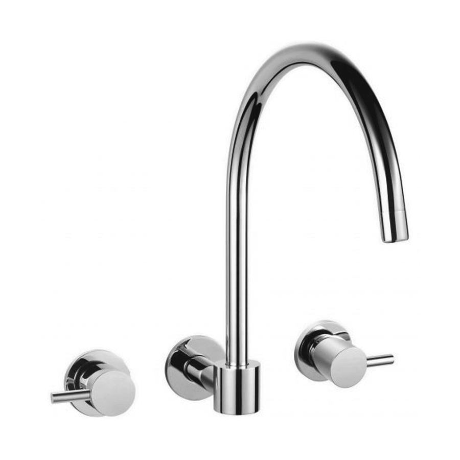 Modern chrome wall swivel spout with taps