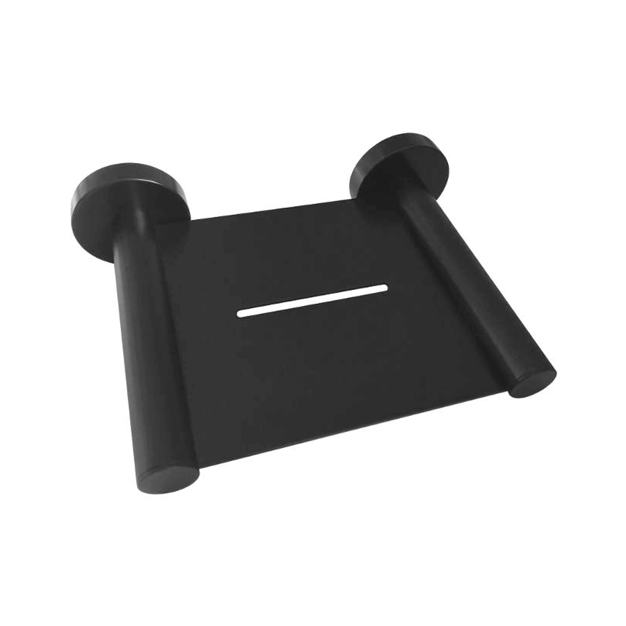 Round black soap dish