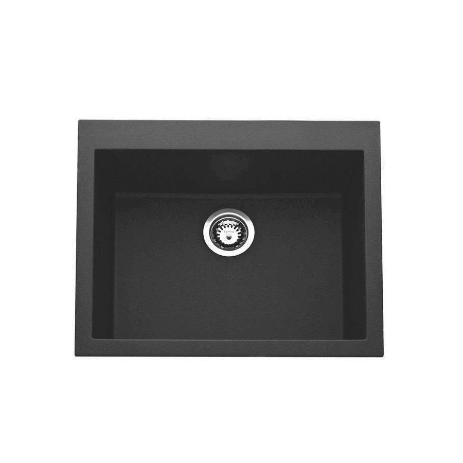 Composite Granite - Quadrille 100 Sink Black   The Sink Warehouse ...