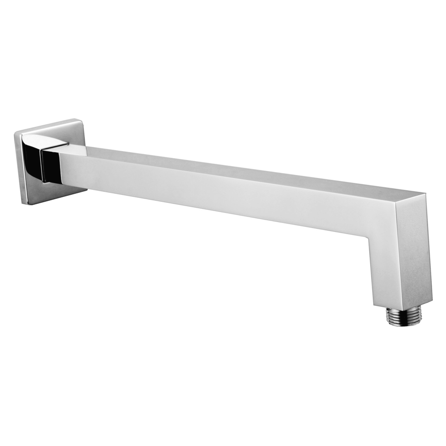 Square fixed chrome shower arm with standard fitting