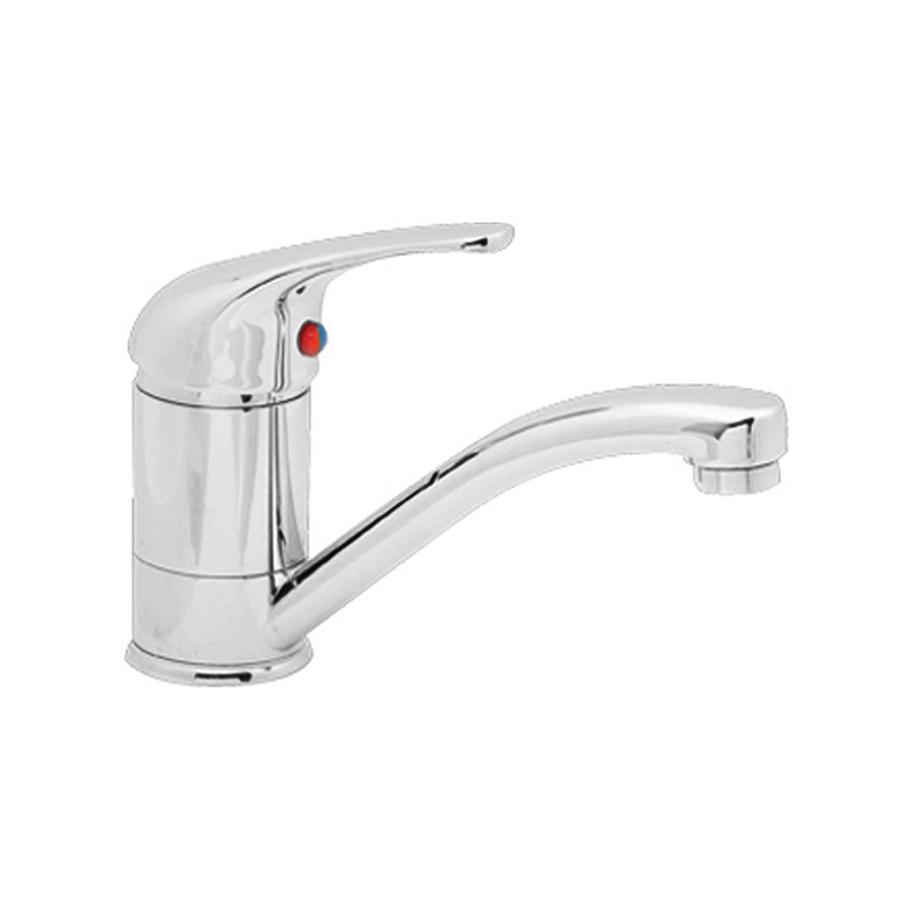 small chrome swivel basin mixer