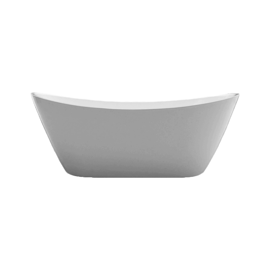 Curved white free standing bath