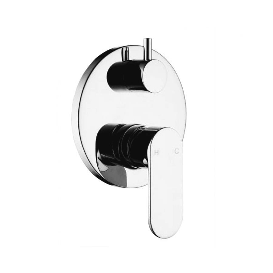 chrome round bath shower diverter mixer tapware