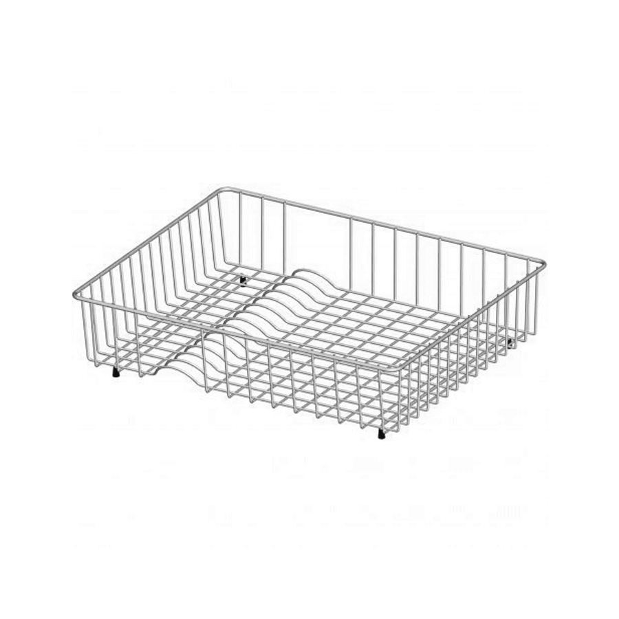 Stainless steel wire rack with four clack rubber legs