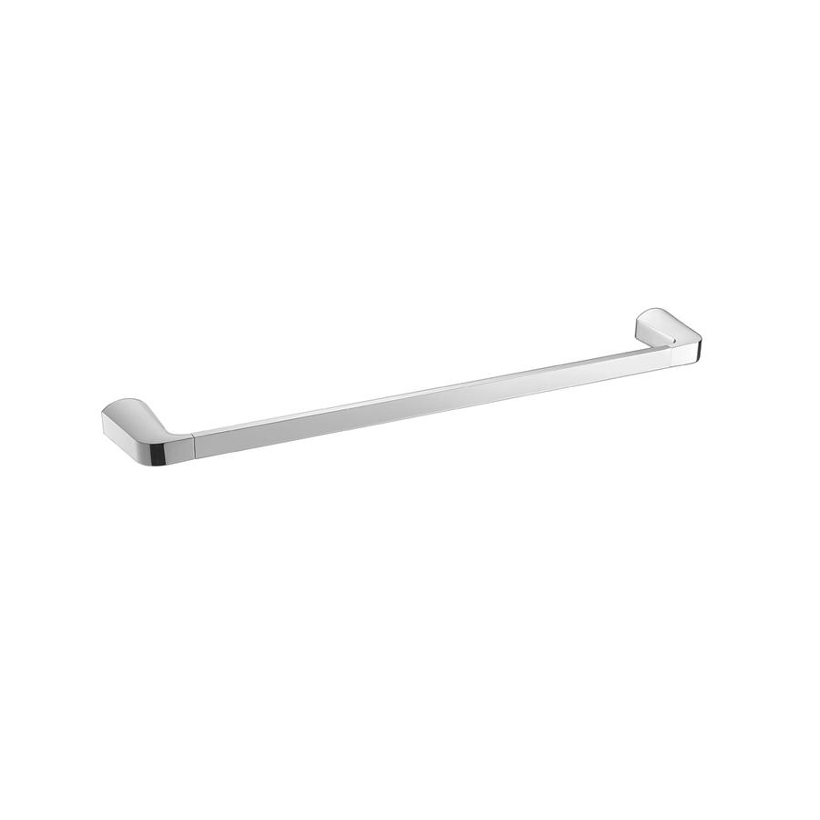 bathroom square towel rail single 600mm chrome
