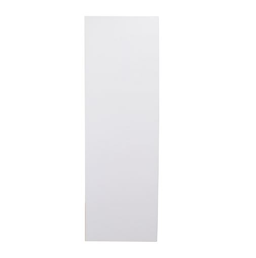 White gloss single door broom cupboard 600mm
