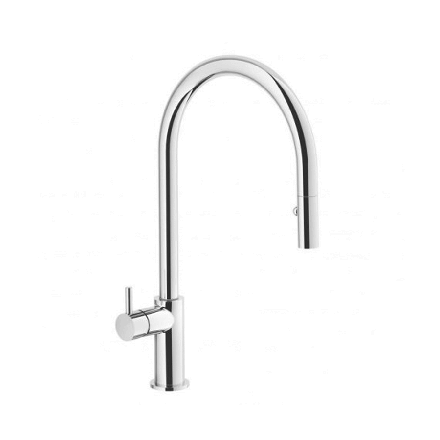 Chrome single pin lever veg spray sink mixer