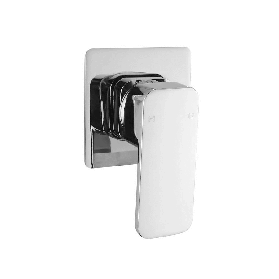 chrome rounded sqaure bath shower mixer