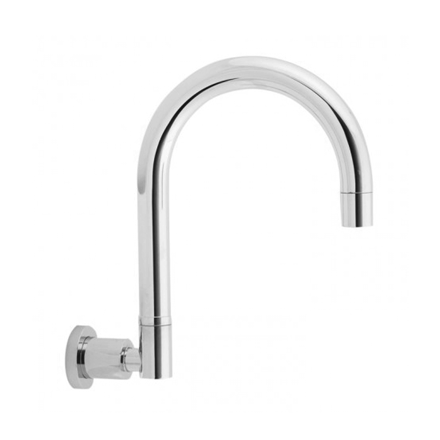 Round chrome wall spa or sink spout