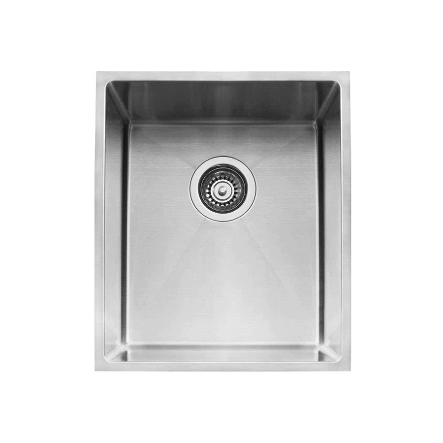 Stainless steel single bowl brushed sink