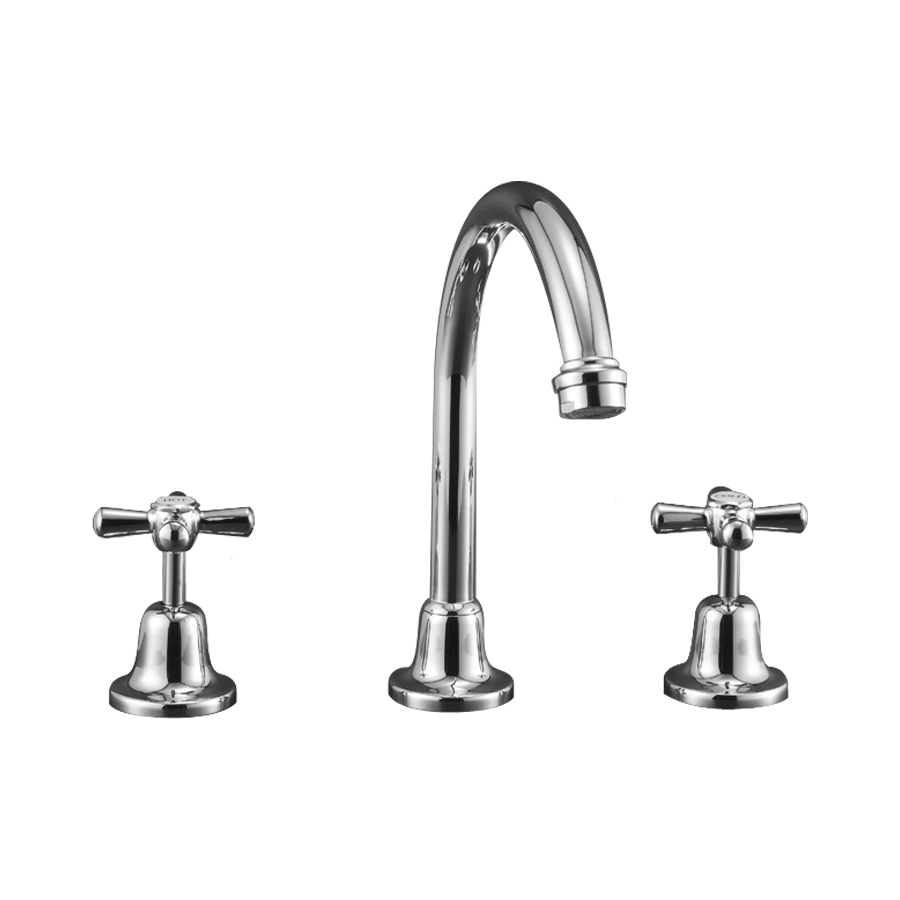 Classic chrome taps and spout