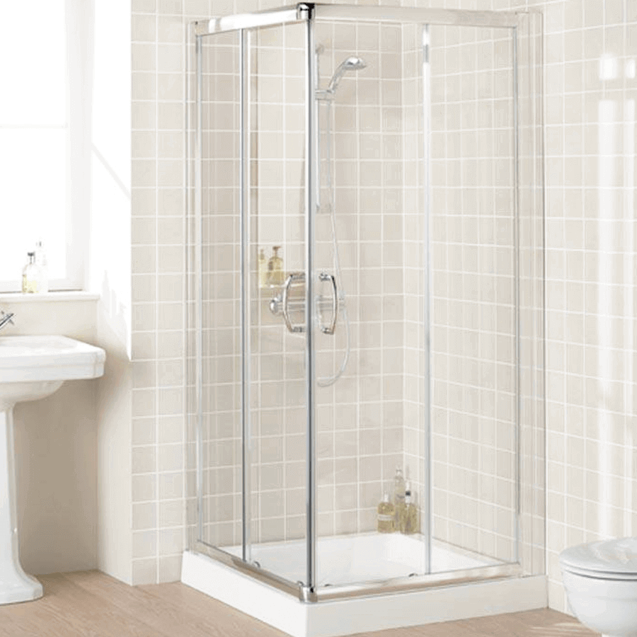 Corner Entry Shower Screen 900 | The Sink Warehouse: Bathroom ...