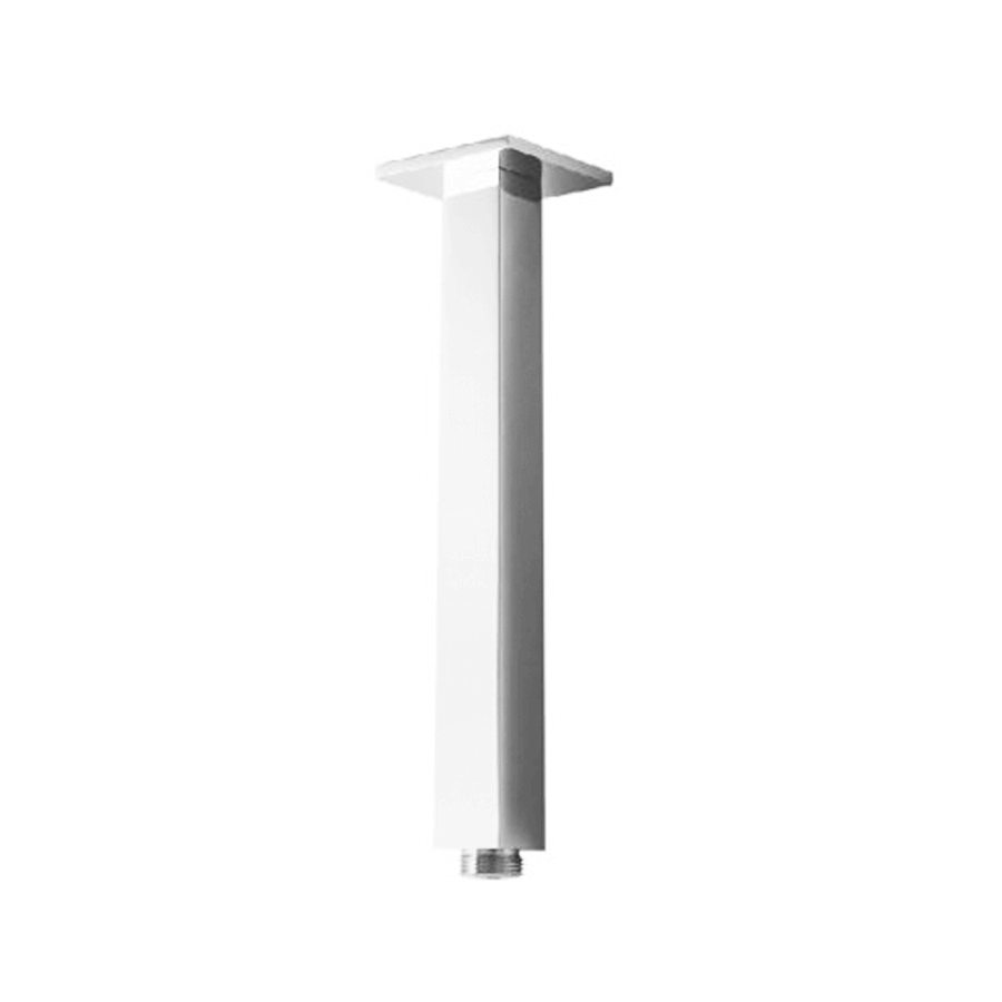 Square fixed chrome 200mm shower ceiling arm with standard fitting