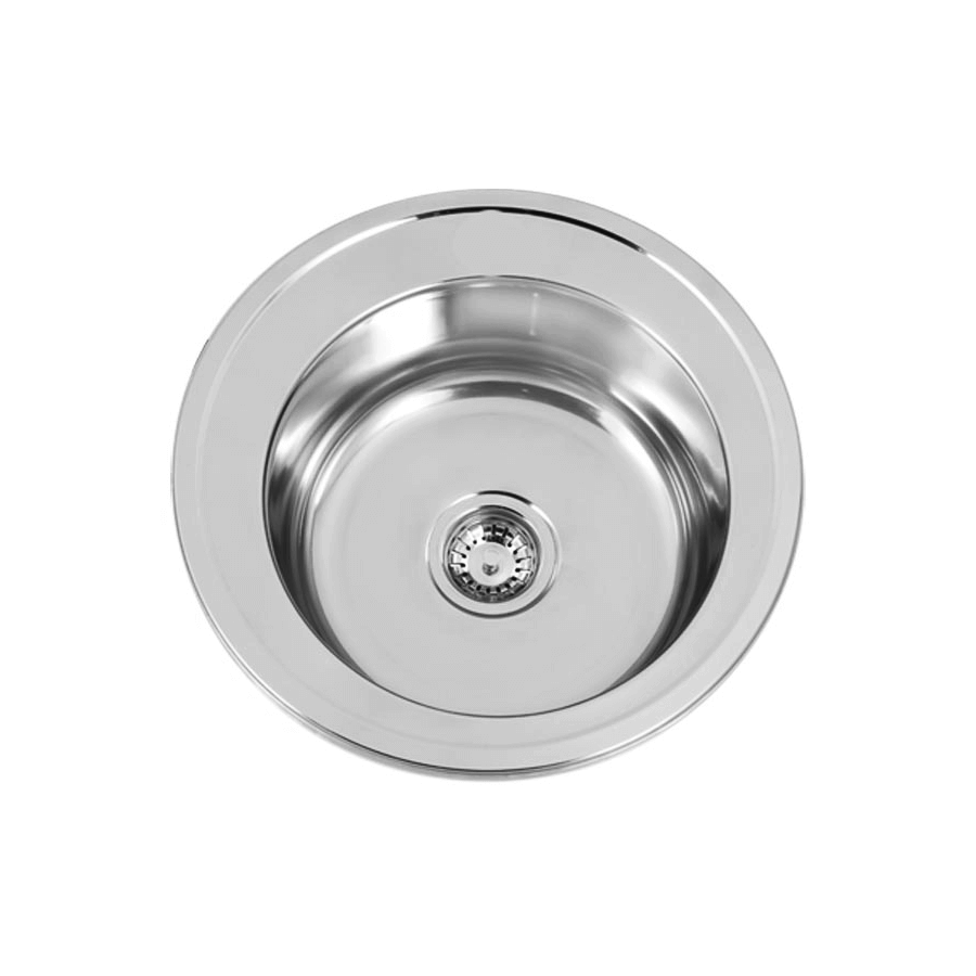 Stainless steel round single bowl sink