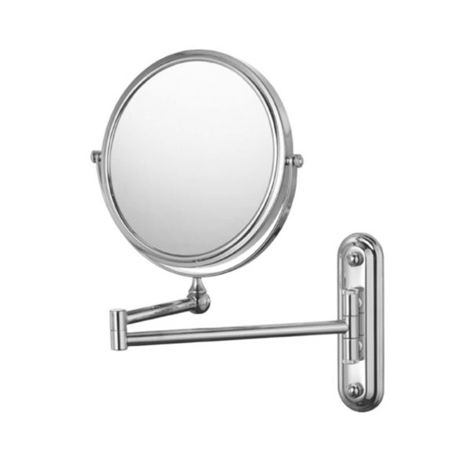 extendable bathroom wall mounted magnified shaving mirror