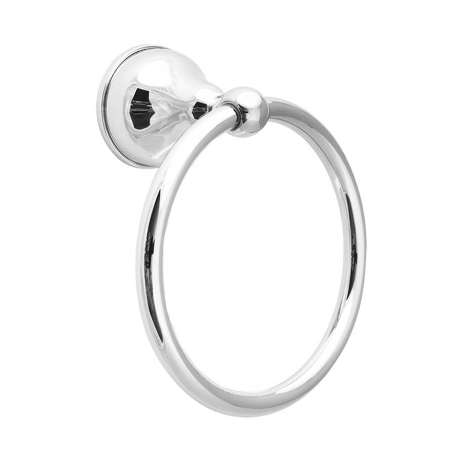 Traditional round chrome hand towel holder ring