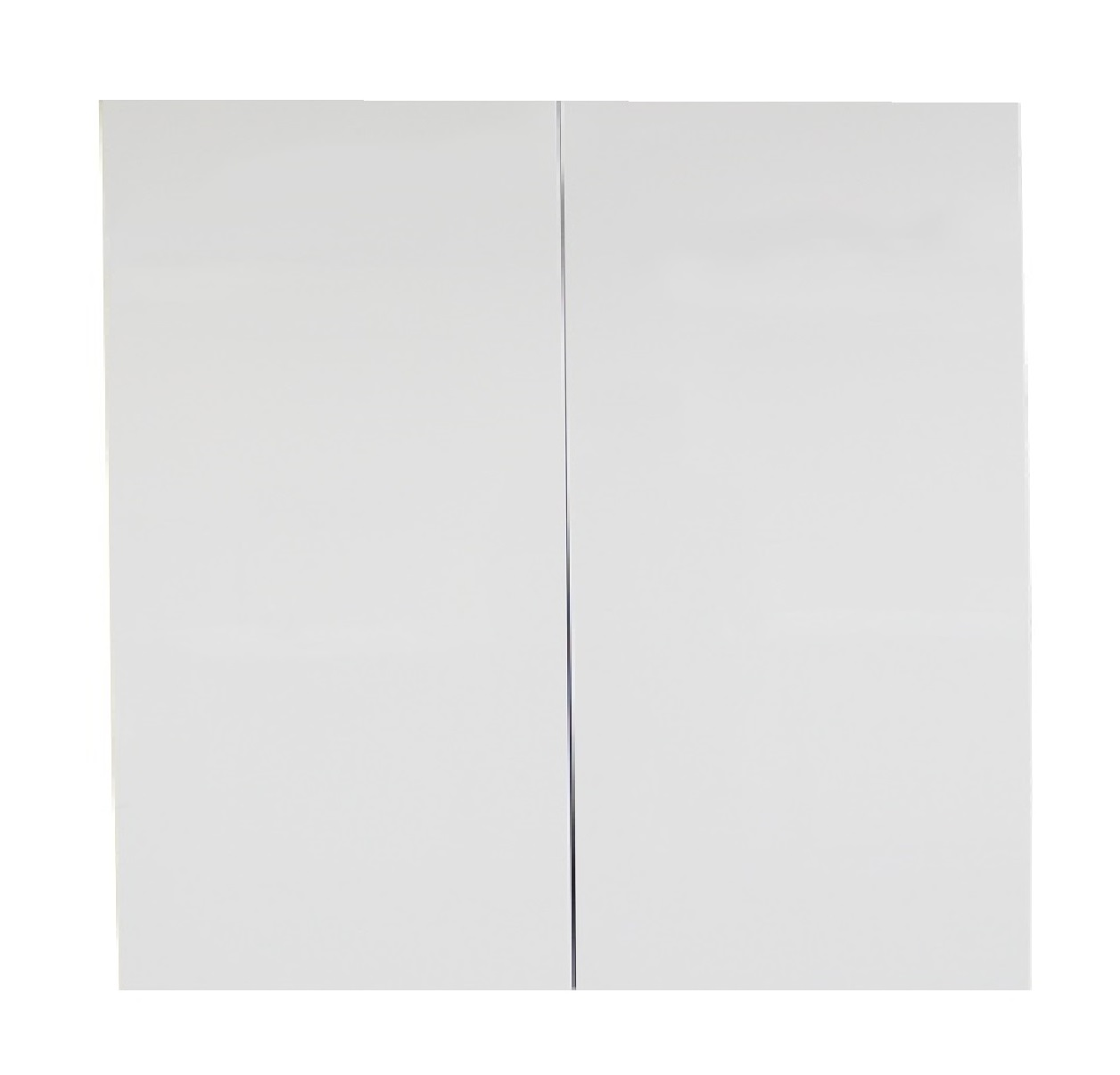 White gloss double door 900mm pantry cabinet