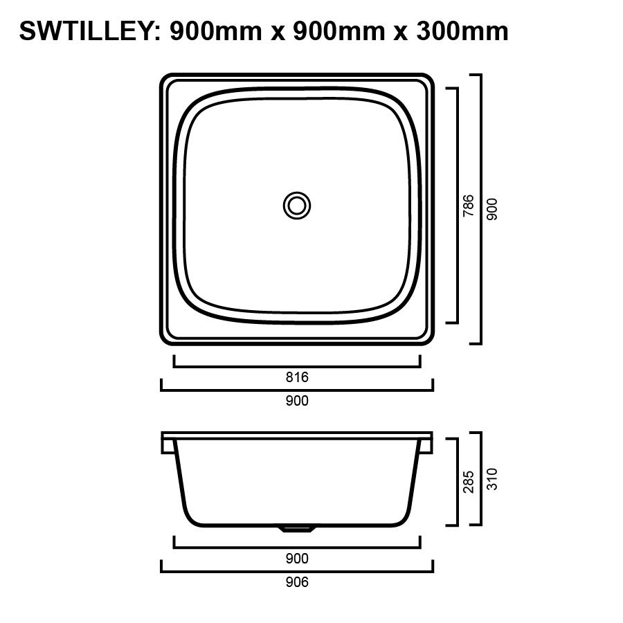 Inset Tilley Shower Base/Hip Bath | The Sink Warehouse | Shop Now ...