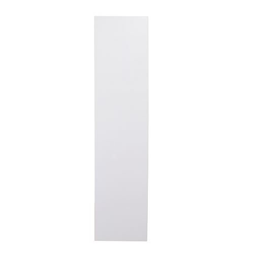 White gloss single door broom cupboard 450mm