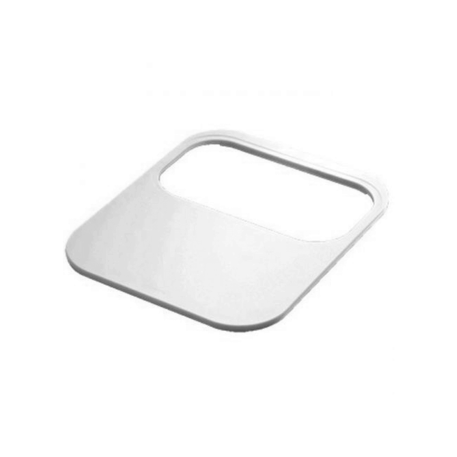 Plastic chopping board with strainer bowl hole