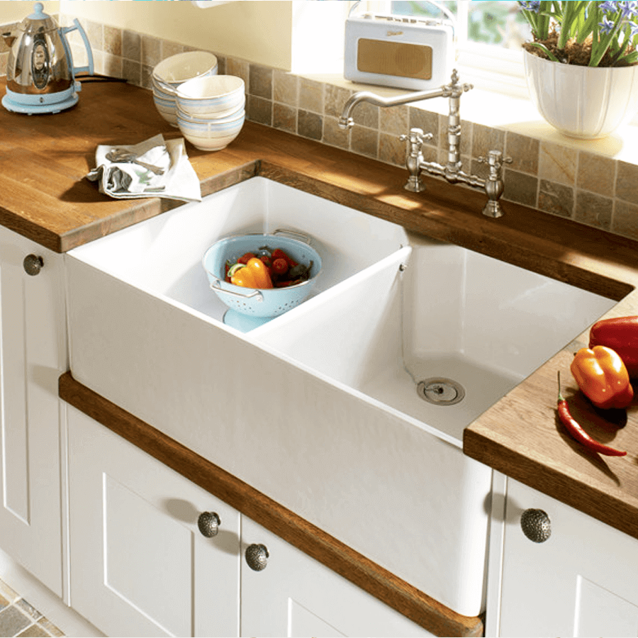 Colonial double belfast butler sink the sink warehouse bathroom kitchen laundry the - Butler kitchen sinks ...