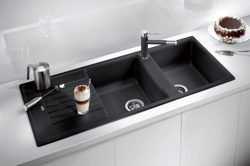 Blanco Zia 210 Black Composite Granite Sink