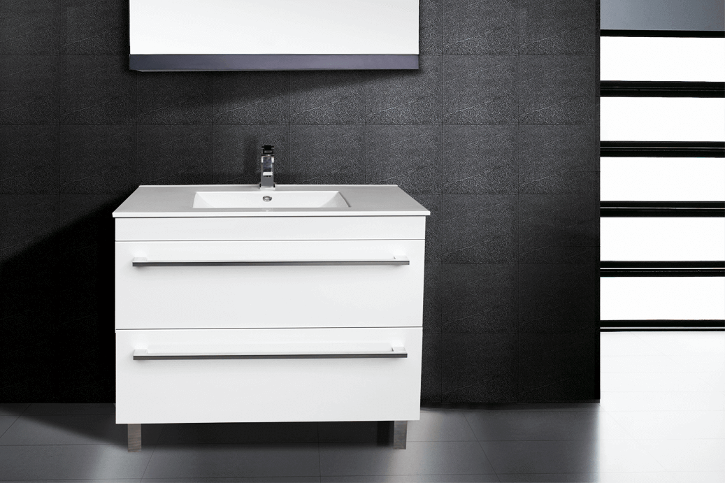 white indi vanity 2 drawers