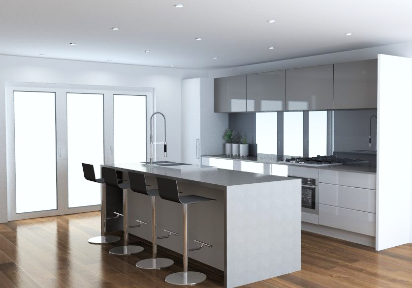 Gloss white hafele kitchen