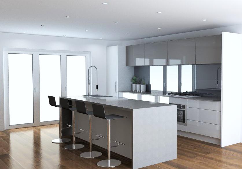Gloss white hafele kitchen