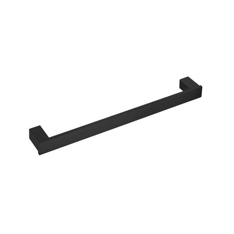 square black single towel rail 800mm line drawing