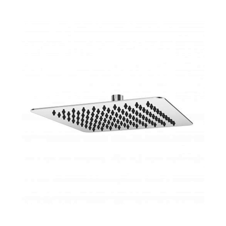 Square stainless steel single-function shower head