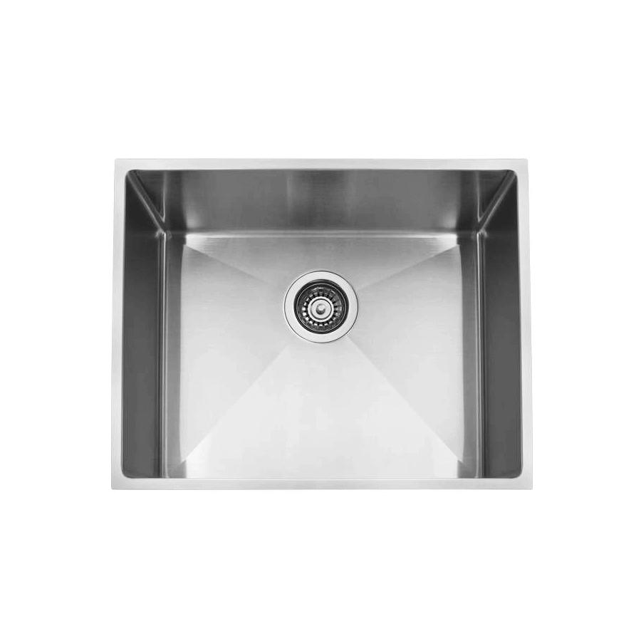 Stainless steel single bowl large satin sink