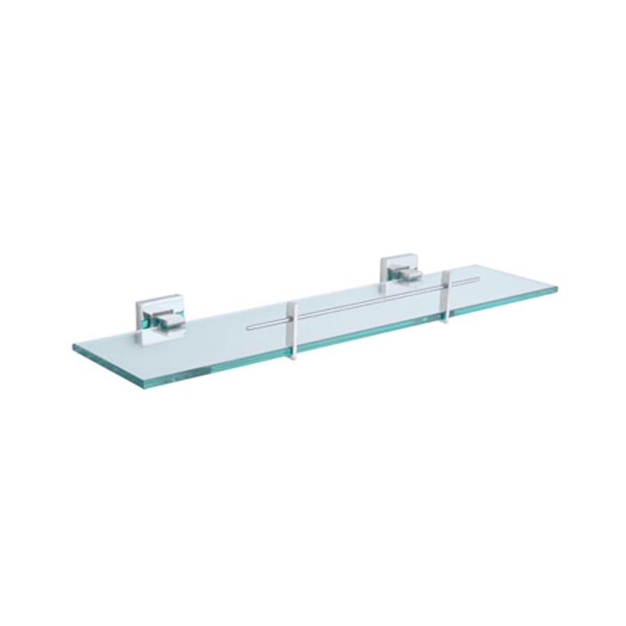 Square stainless steel vanity glass shelf holder