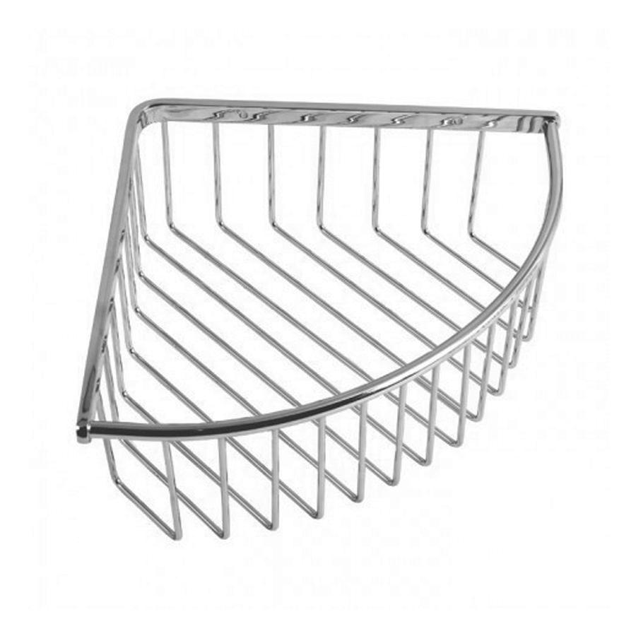 Wall mounted chrome corner holder shelf basket