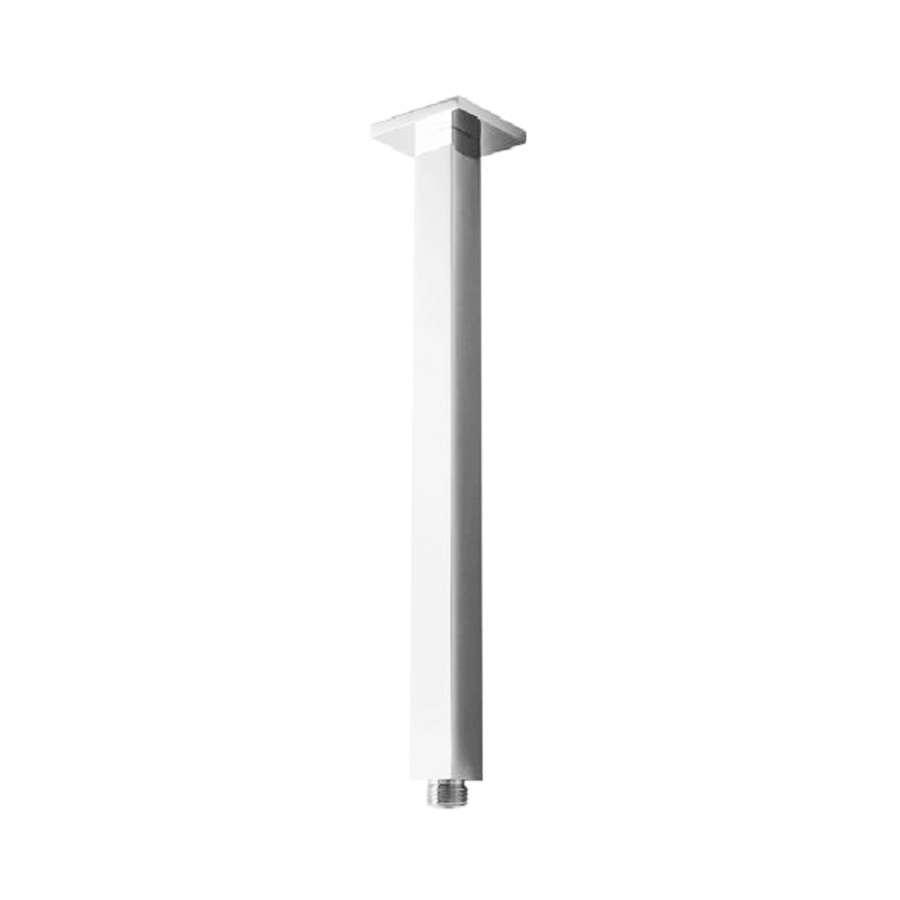 Square fixed chrome 400mm shower ceiling arm with standard fitting
