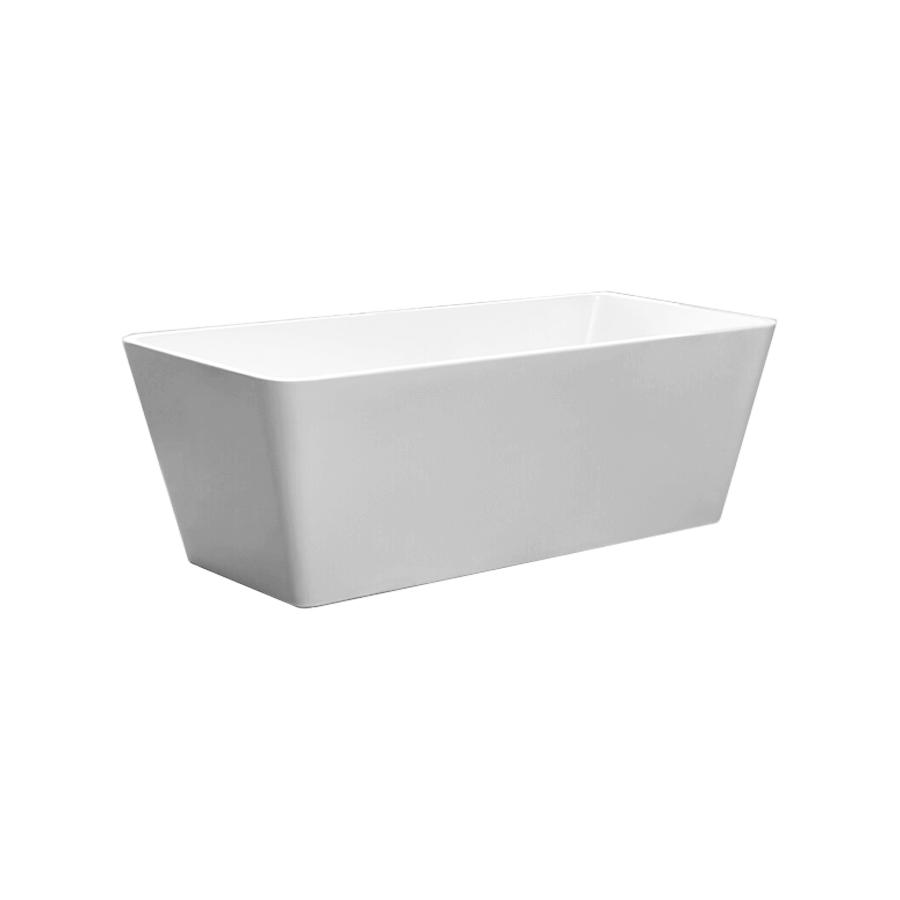 Square freestanding white 1700mm bath
