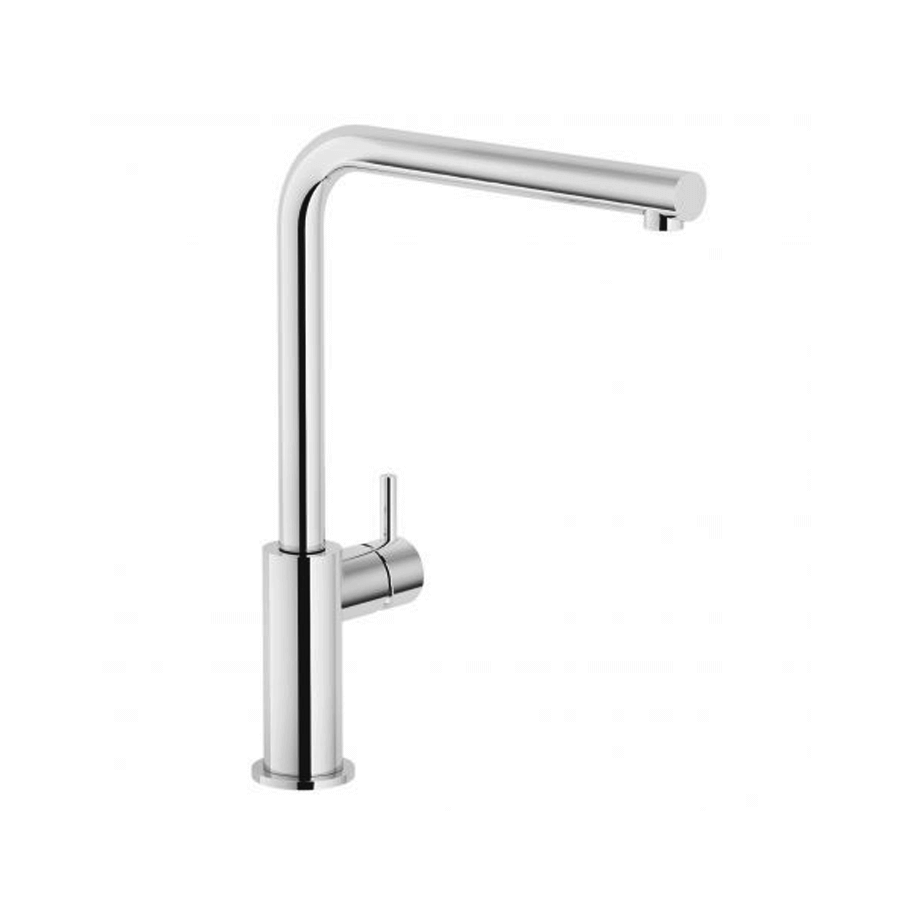 Chrome single pin lever gooseneck sink mixer