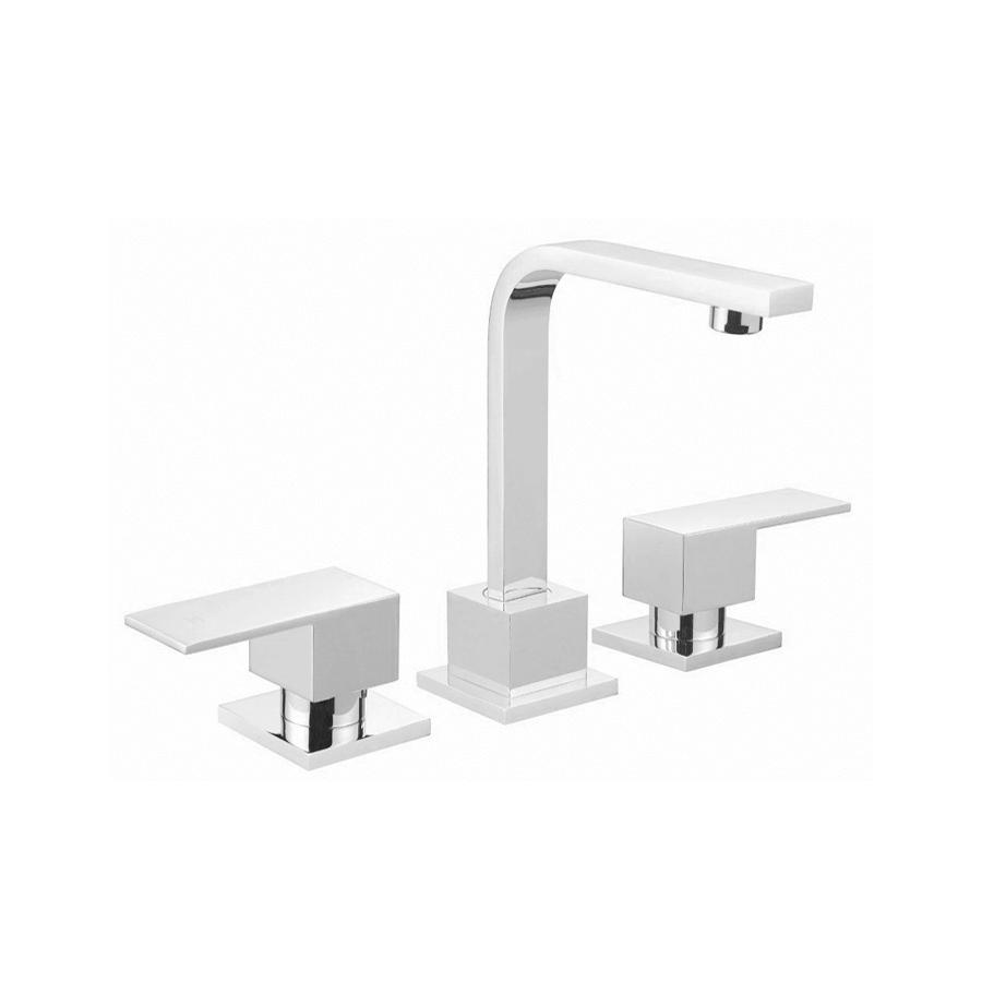 Square chrome swivel basin spout and taps