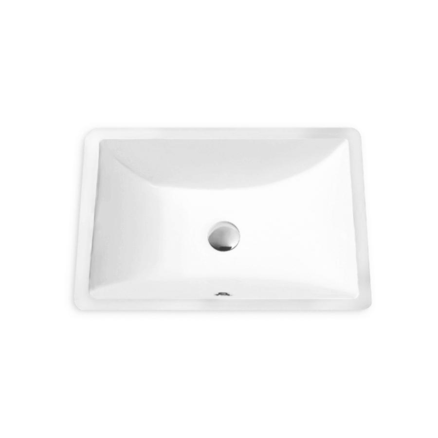 white ceramic square undermount bathroom basin