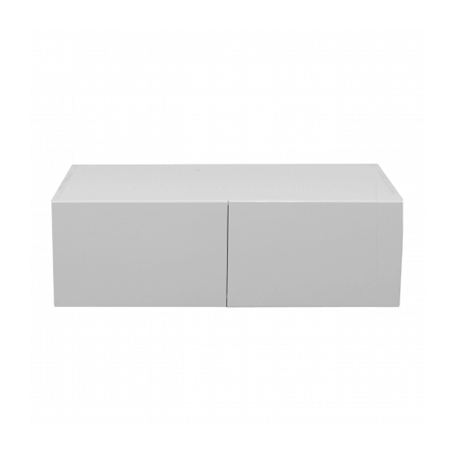 White gloss double door fridge cupboard 900mm