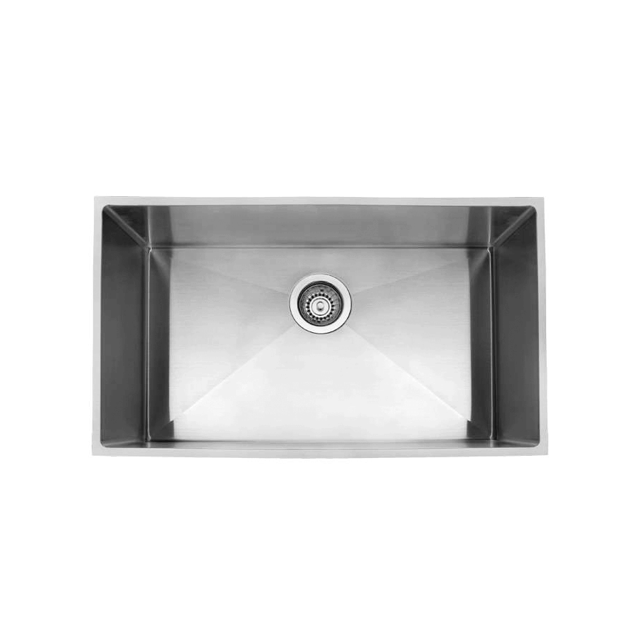 Stainless steel large single bowl brushed sink