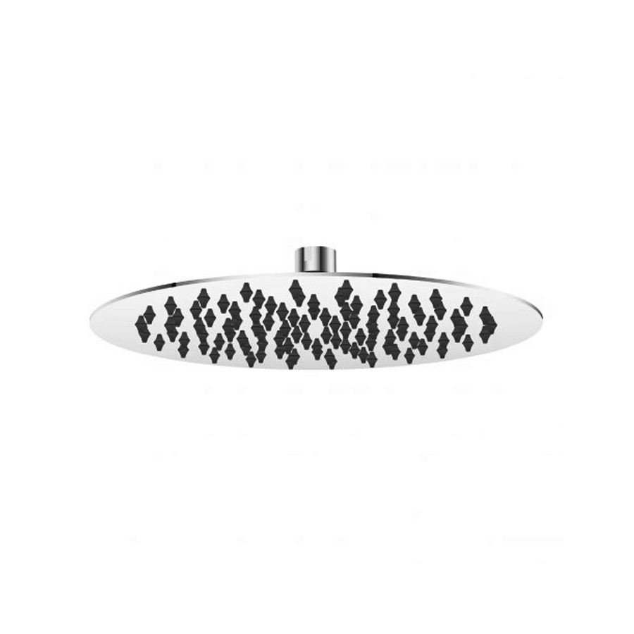 Round stainless steel single-function shower head