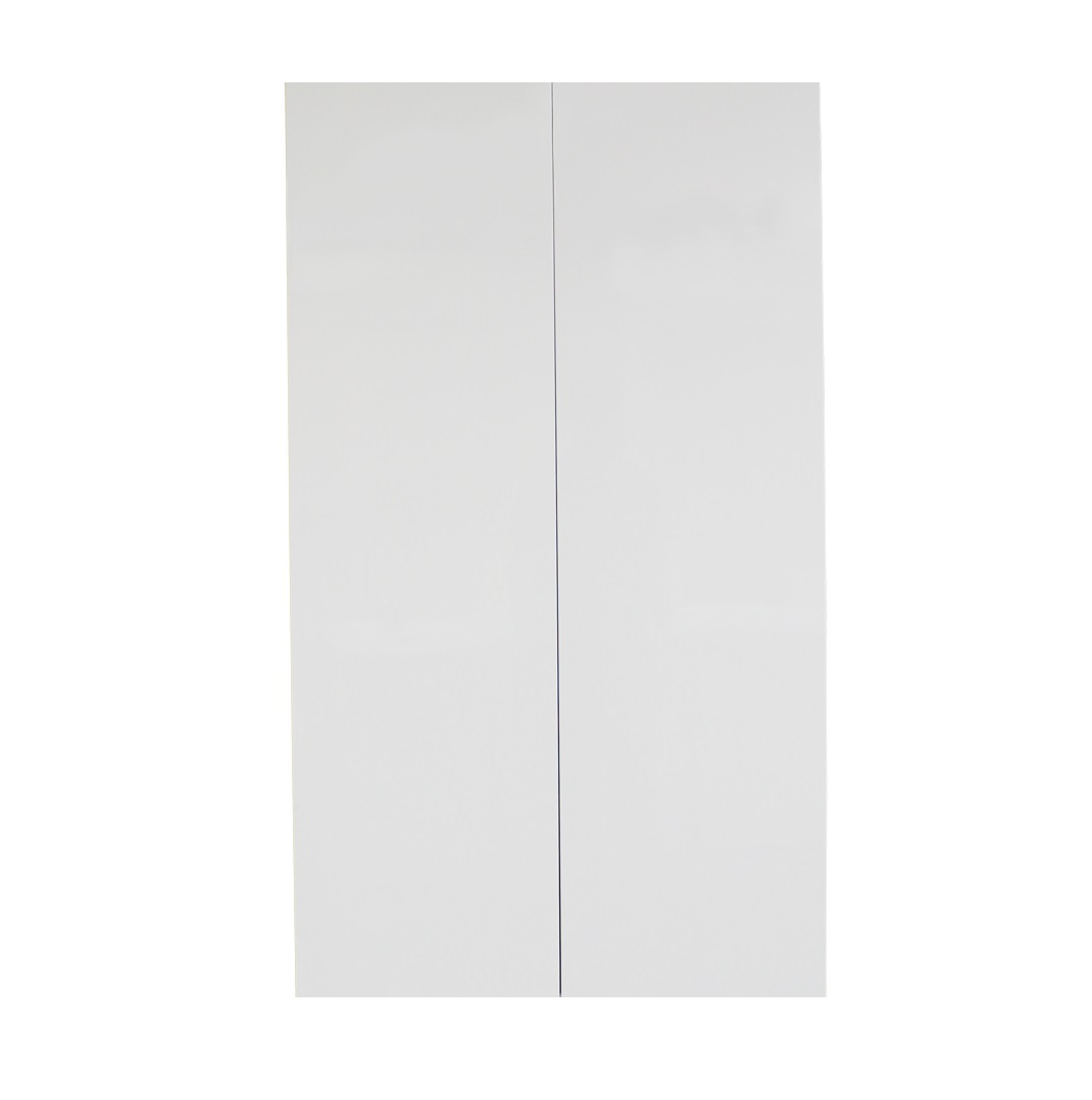 White gloss double door 600mm pantry cabinet