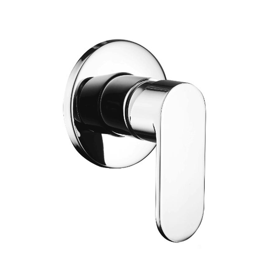 Round square chrome bath shower mixer