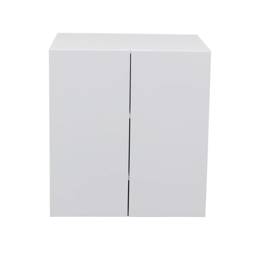 White gloss double door range hood concealer 600mm