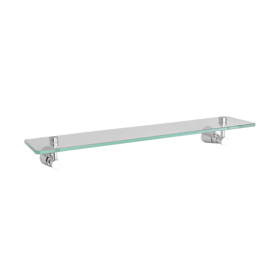 Round shower chrome vanity shelf holder