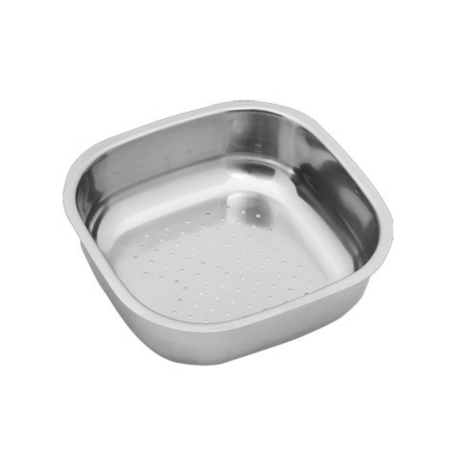 Stainless steel bowl with drip holes