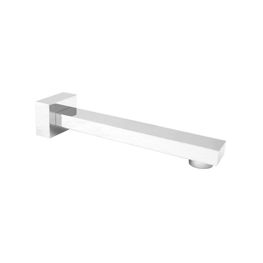 Square chrome fixed bath spout